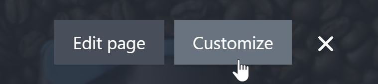 Customize Your New Page