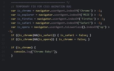 Target Safari Browsers with JavaScript